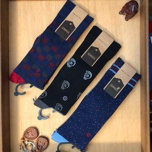 3 pairs Stance men's dress socks.